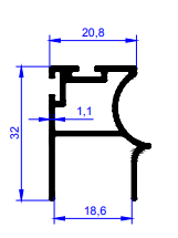 Profilet inox mat pm 2.5m er 5739