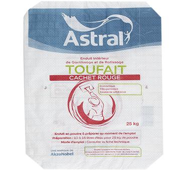 Enduit toufait rouge  25kg astral