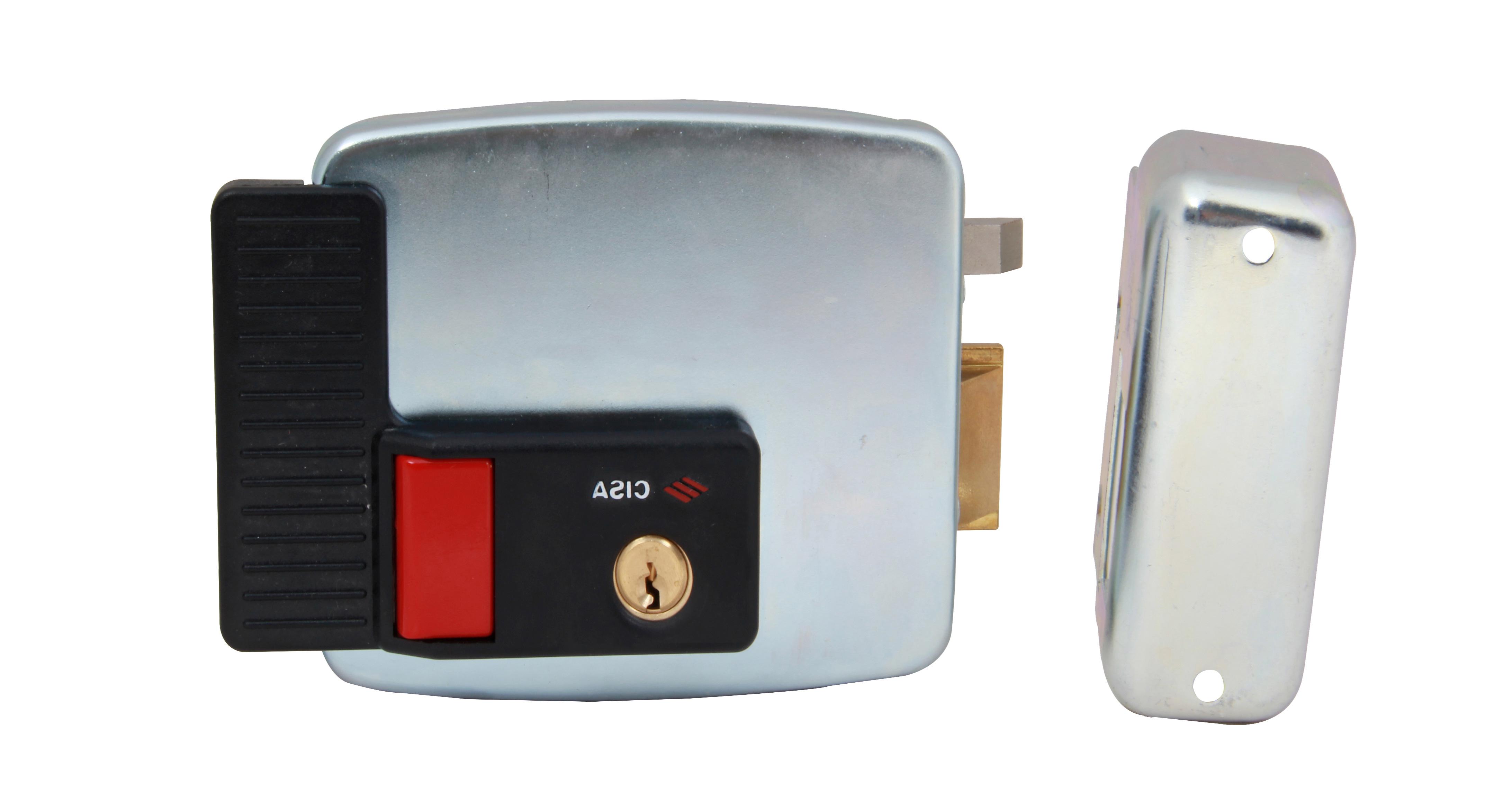Serrure électrique blocus à bouton extérieur